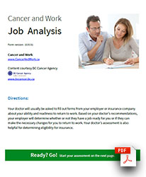 Job Analysis preview