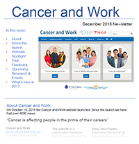 Cancer and Work Newsletter